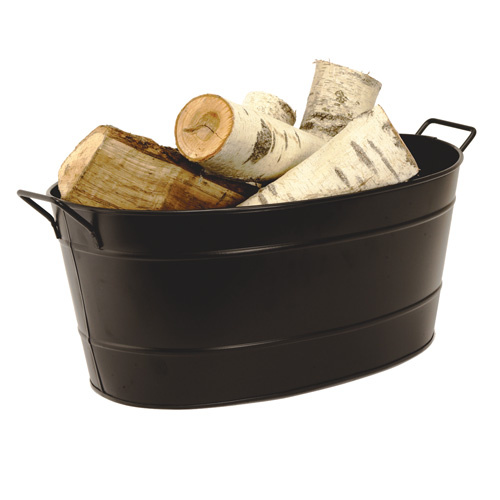 Oval Metal Firewood Tub